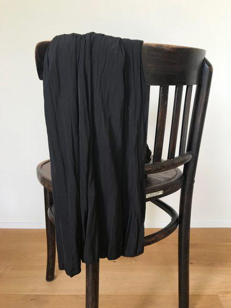 ユニクロ「ワッシャーサテンスカートパンツ」をはいてみた