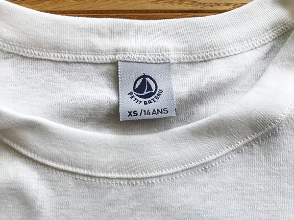 大人の白Tシャツ、プチバトー熱再来