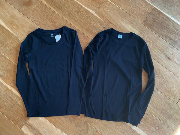 プチバトーとユニクロ レディース長袖Tシャツを比較レビュー