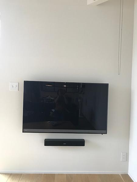 壁掛けテレビでシックに